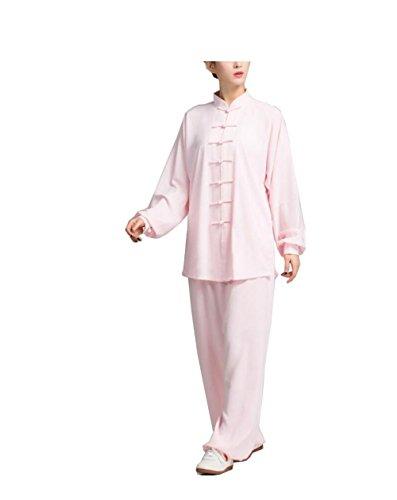 Silk Baumwolle Leinen langärmelige Tai Chi Kleidung Weibliche Modelle Übung Kleidung Morgen Übung Leistung Boxen Kleidung (Seide Chinesisches Kung Fu Kleidung)