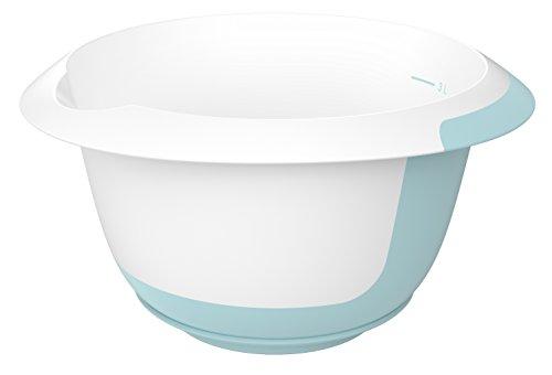keeeper Rührschüssel mit Saugnapf und Anti-Rutsch-Oberfläche, BPA-freier Kunststoff, 3,5 l, Mariella, Mintgrün/Weiß (Rührschüsseln Mit Griff)