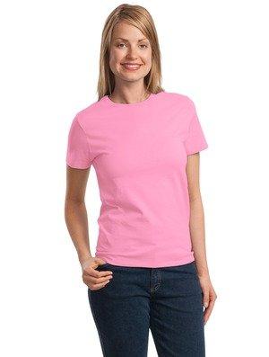 Port & Company Damen T-Shirt Pink (Candy Pink) Large (Damen Rosa T-shirt 2008)