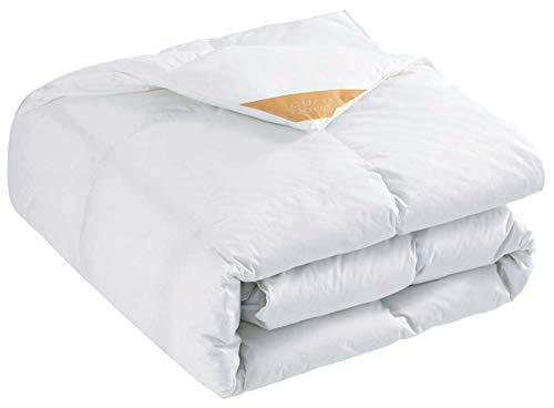 puredown Ganzjährige Leicht Bettdecke, 135x200cm Daunendecke, Gänseflaum Bettwäsche, 4 Jahreszeiten, Leicht, Öko-Tex