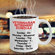 LECE Retired Veterinarian Gifts, Retired Veterinarian Mug, Veterinarian Retirement Gift, Veterinarian Retirement Mug, Funny Gift For Retired Vet