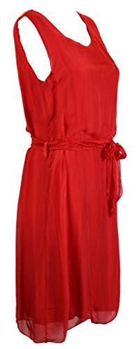 Bild von BZNA Sommerkleid Rot rosso Seidenkleid Sommer Herbst Seidenkleid Damen Dress Kleid elegant