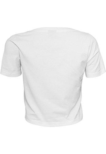 Urban Classics Damen T-Shirt Ladies Cropped Tee White