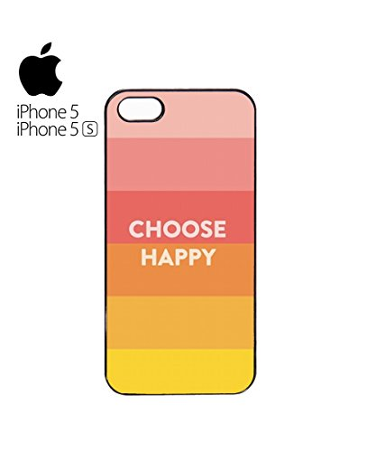Choose Happy Colours Mobile Cell Phone Case Cover iPhone 6 Black Blanc