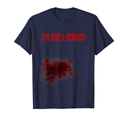 Zombie Kostüm Frauen - Bloody Zombie Bite Scary Halloween-Kostüm T-Shirt