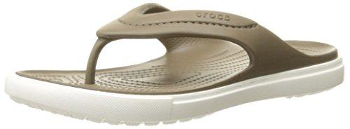 Crocs Citilane Flip Infradito e ciabatte da spiaggia, Unisex adulto, Beige (Walnut/White), 46/47