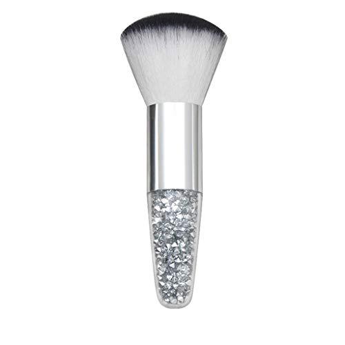 Verjüngte Kristall Diamantkorn Transparenter Griff High end Erröten Make-Up-Tool Gesichts Blush Mask Foundation Pinsel mit dichten Haaren, Perfekt für den professionellen oder persönlichen Gebrauch -
