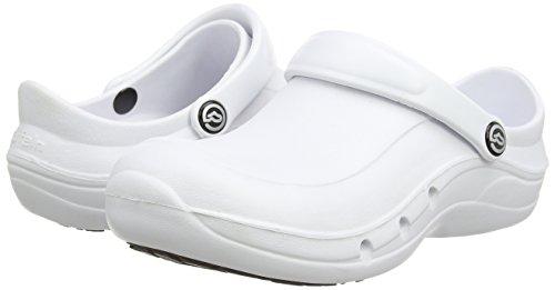 Toffeln - Eziprotekta 845, Calzature Di Sicurezza, unisex, colore nero (nero), taglia 42 EU (8 UK) Bianco (Bianco (White))