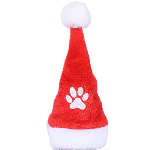 Lâ Vestmon Weihnachten Haustier Kostüm Katze und Hund Hut Schal Kragen Kleidung Cosplay Kostüm Niedlichen Halsband Set Mit Plüsch