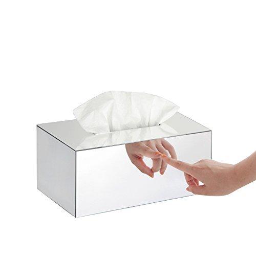 JackCubeDesign Overall Acryl Spiegel Rechteck Tissue Box Halter Tasche Kleenex Aufbewahrungsbox Ständer Box Serviettenhalter Organizer (24,2 x 14,3 x 11 cm) -: MK219B (Box Jack)
