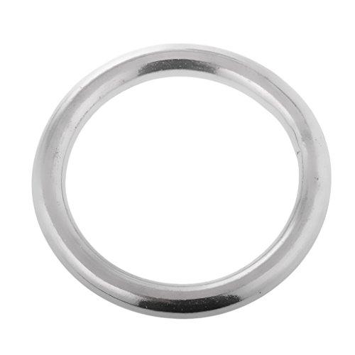 Gazechimp Rundring aus hochwertigem Edelstahl O Ring Bootsport Hardware Hängematte Befestigung Ringe - 8 x 70mm