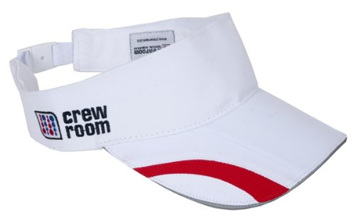Herren Athletic Verstellbarer Gurt (Crewroom VX Leichte Kappe mit Visier Einheitsgröße bunt - Weiß/Rot)