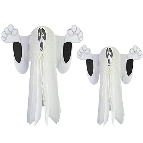 STOBOK 2 stücke Halloween Hängen Ornamente Ghost Haunted House Rasen Baum Scary Anhänger Dekoration für Halloween Party (Größe L Größe S)