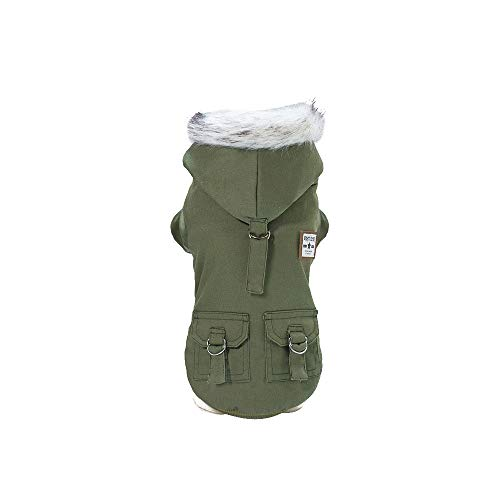 Dragon868 Hund Mantel Komfortable Handsome Military Style Pet Dog Cotton Coat with Hat Herbst and - Dackel Kostüm Hunter