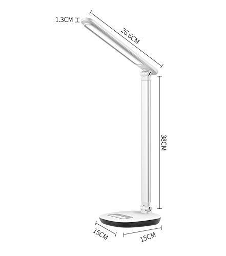 WFL Led Schreibtisch Lampe augenschutz Lernen lesen tischlampe steckbare Art leselampe 5 Touch dimmen farbtemperatur 4000 Karat Multi-Angle umdrehung kein blitzfrequenz Anti-blau licht nu -