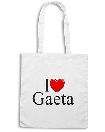 T-Shirtshock - Borsa Shopping TLOVE0038 i love heart gaeta white Bianco