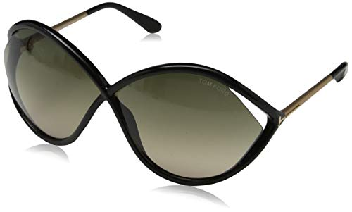 Tom Ford Damen FT0528 01B 70 Sonnenbrille, Schwarz,
