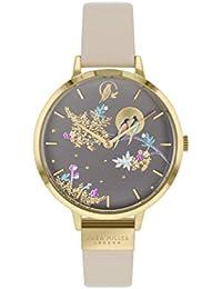 Sara Miller Chelsea Collection SA2020 - Reloj con Correa de Piel chapada en Oro