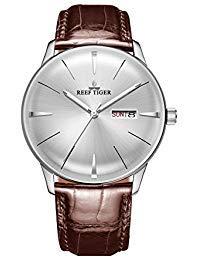 REEF TIGER Herren Uhr analog Automatik mit Leder Armband RGA8238-YWS