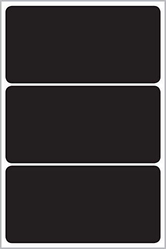 Avery 62018 Rectángulo Negro 12pieza(s) - Etiqueta autoadhesiva (Negro, Rectángulo, 97 mm, 48,5 mm, 12 pieza(s), 3 pieza(s))