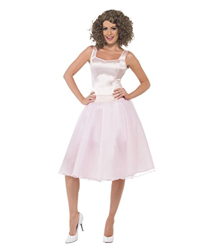(Dirty Dancing Last Dance Damen Kostüm-Set, Baby Pink, Größe M (38-40), Brustumfang 37. 5- 97.79 cm, Taille 29- 77.47 cm)