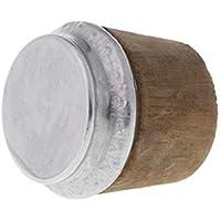 SimpleLife 40 mm Diámetro Inferior Botella Termo de Madera Tapón de Corcho Tapa Tapa Tapón Caldera Piezas 4cmx4cm