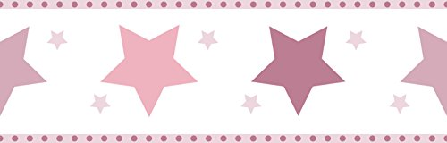 Dandino Bordüre Kinder Sterne, bordeaux
