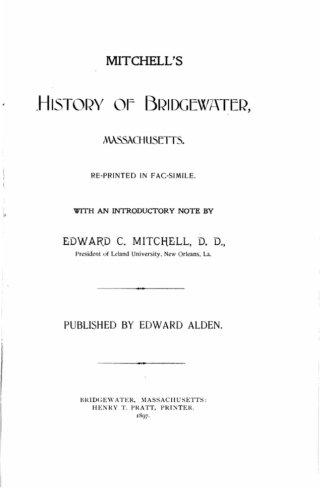 History Bridgewater in Plymouth County, Massachusetts