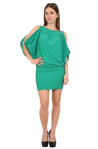 Sunshine - Robe mi-longue manches chauve souris - Femme Vert menthe