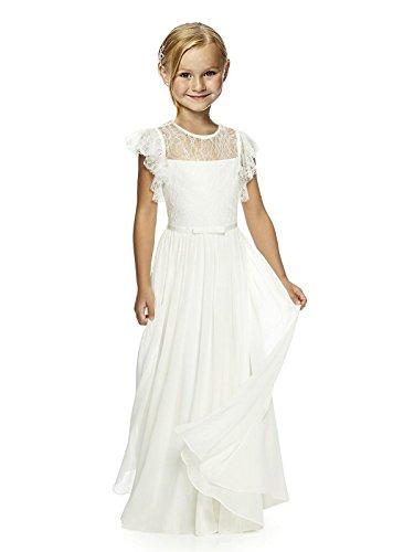 Loussiesd Mädchen Spitze Blumenmädchen Kleid Erste Kommunion Festzug Kleid Beige Size 10