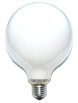 1 x Globe Glühbirne Glühlampe 60W 60 Watt E27 OPAL G120 125mm Globelampe