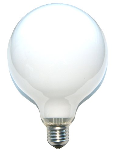 Globe Watt 60 Glühbirnen (1 x Globe Glühbirne Glühlampe 60W 60 Watt E27 OPAL G120 125mm Globelampe)