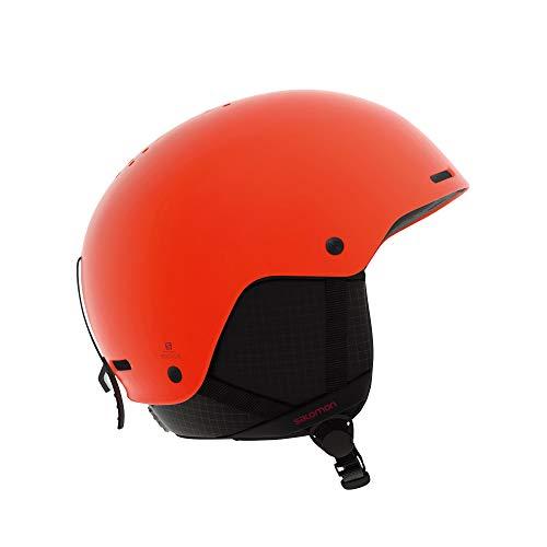 Salomon Casco da Sci e Snowboard da Uomo, Involucro ABS, Interno in Schiuma EPS 4D, Taglia M, Circonferenza : 56-59 cm, BRIGADE, Arancione Orange Pop, L40537300