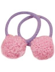 a8792179ad3585 ZOOMY 1 Stück Haar Seil Mini Runde Pompon Ball Dekor Gummiband Dünne  Haargummi Pferdeschwanz Halter -