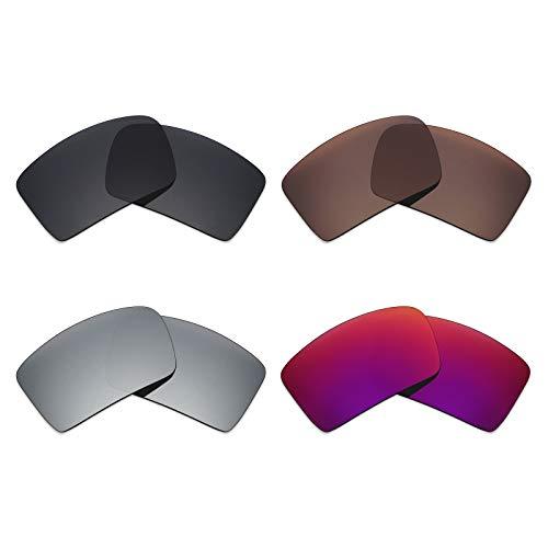 Mryok polarisierte Ersatzgläser für Oakley Eyepatch 2 Sonnenbrillen - Stealth Black/Bronze Brown/Silver Titanium/Midnight Sun