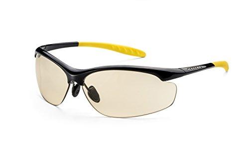 Sonnenbrille FITZ | Superleichte Sportbrille, individuell anpassbar mit phototropen Scheiben aus hightech-Material, mit festem Etui und Microfaserbeutel F6271136 (Super Dunkle Sonnenbrille)
