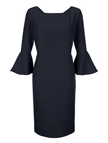 Alba Moda Damen Kleid Marineblau 38