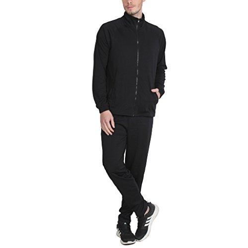 PRO Lapes Men's Solid Black Tracksuit