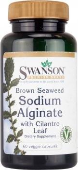 Swanson Brown Seaweed Sodium Alginate (with Cilantro Leaf, 60 Vegetarian Capsules)