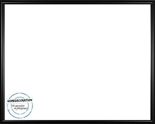 Rotterdam Bilderrahmen Schwarz Matt Posterrahmen 45,7 x 60,9 cm Kunststoff mit unzerbrechlichem glasklarem APET Kunstglas UV beständig 60,9 x 45,7 cm