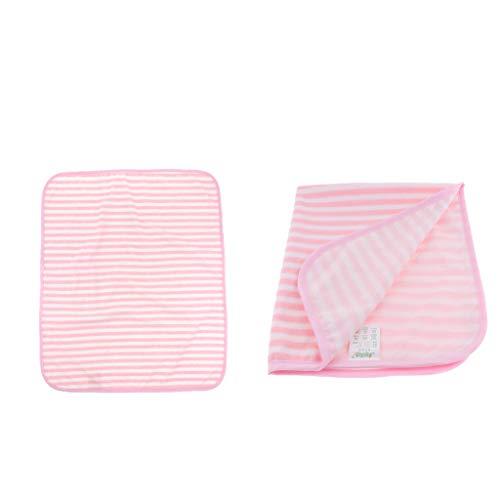 Hellery 2X Baby Waschbare Unterlage Krankenunterlagen Inkontinenzauflage, Weich und Bequem