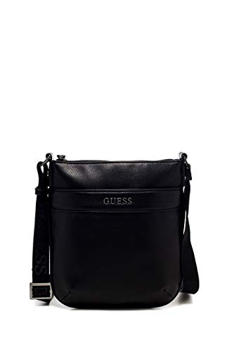 Guess HM6537 POL84.CITY MINI FLAT CROSSBODY.Nero.UNI (Bag City Hardware)