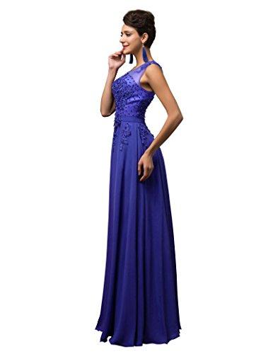 GRACE KARIN Vestito Donna Firmato Elegante Vestito da Sera Donna Elegante Abito Da Sera Floor Length Senza Maniche Maxi CL7555-6
