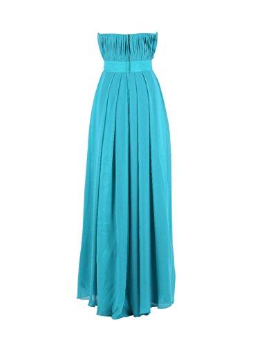 YiYaDawn Langes Elegantes Brautjungfernkleid Ballkleid für Damen Rosa