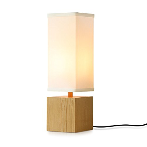 Living room table lamp amazon finether bedroom lamp wood lamp bedside lamp bedside lighting minimalist novelty romantic bedside table lamps for working learning nightstand night lamp mozeypictures Images