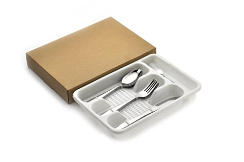 Lightahead® 24pcs Stainless Steel Flatware Tableware Cutlery Set with Tray