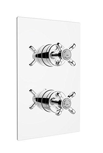 Bristan N2shcvo C 1901empotrable Control termostático Dual válvula de ducha, cromado