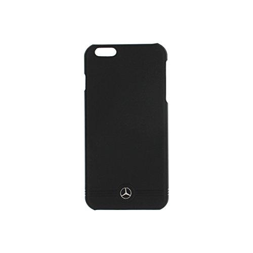Mercedes-Benz Pure Line geprägten Linien Leder-Hülle für Apple iPhone 6 Plus/6S Plus grau schwarz
