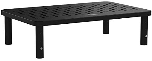 NOVAATO Premium Monitorständer Mit Höhenverstellbaren Füßen - Besonders Stabiler Bildschirmständer Für Mehr Platz Auf Dem Schreibtisch