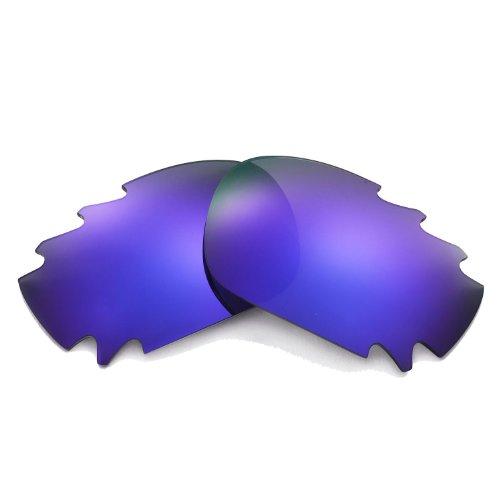 Walleva Ersatz belüftete Linsen für Oakley Jawbone Sonnenbrille - Mehrfache Optionen (Lila beschichtet - polarisiert)